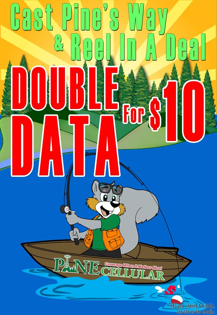 Double Data $10